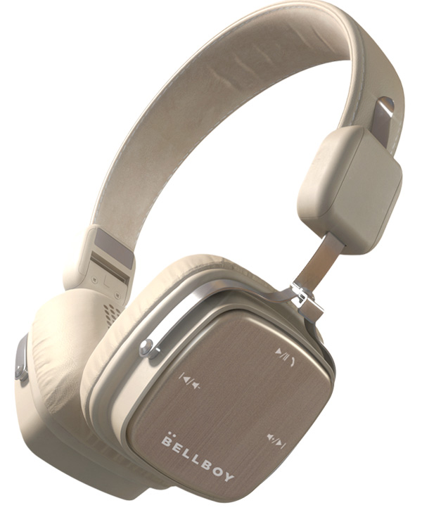 beige headphone